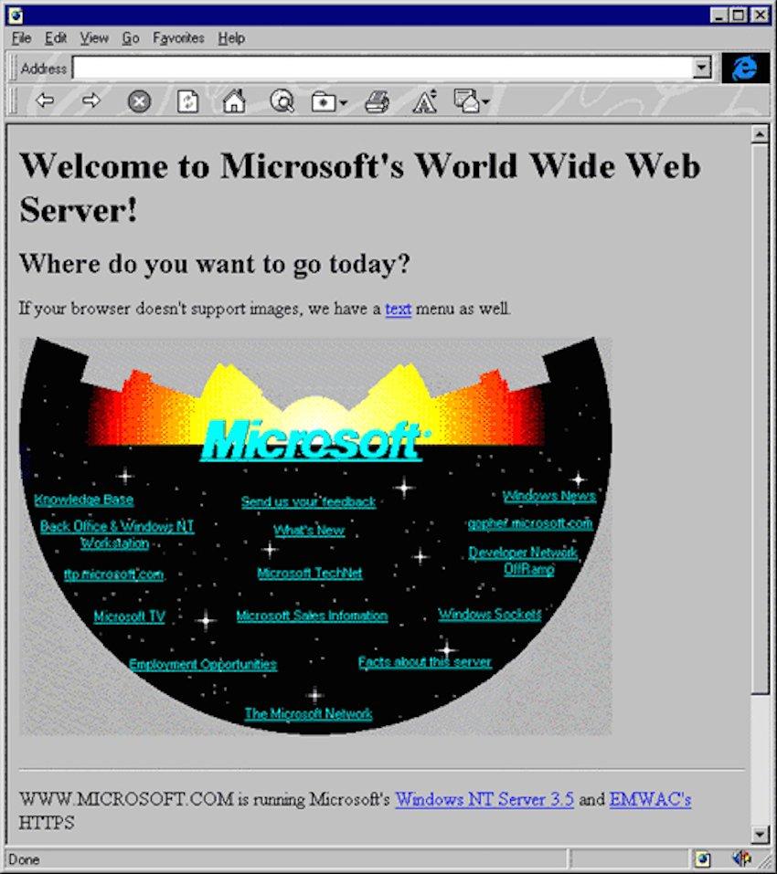 Microsoft Web Page 1994