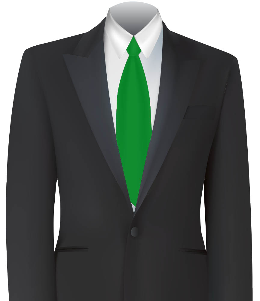 Green Colour Tie