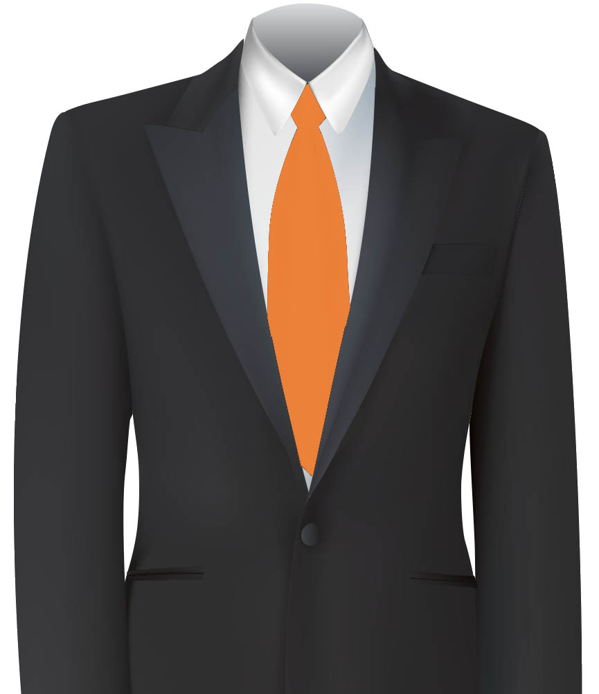 Orange Colour Tie