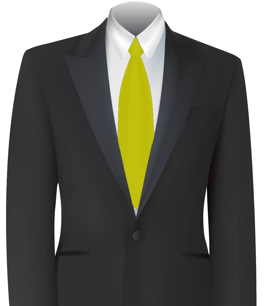 Yellow Colour Tie