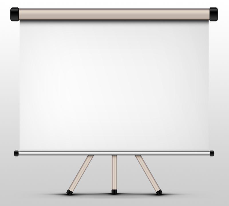 Blank projector-screen