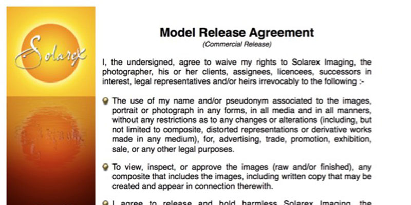 Model Release Form Do I Need Them  Solarex Imaging