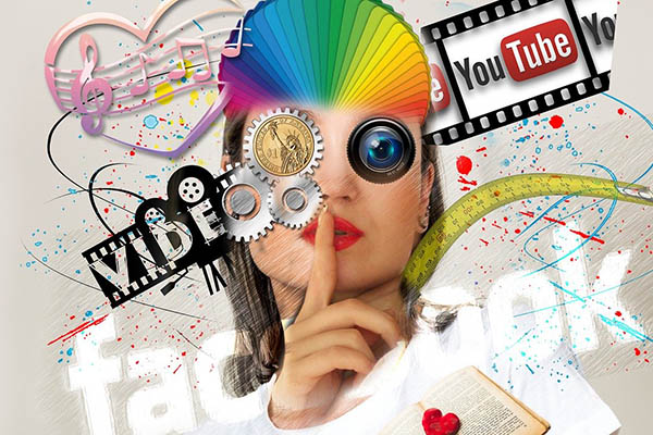 Image collage showing a YouTuber and/or YouTube video creation. Is a YouTuber considered a content creator?